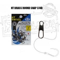 NT BRASS ROUND SNAP 374B