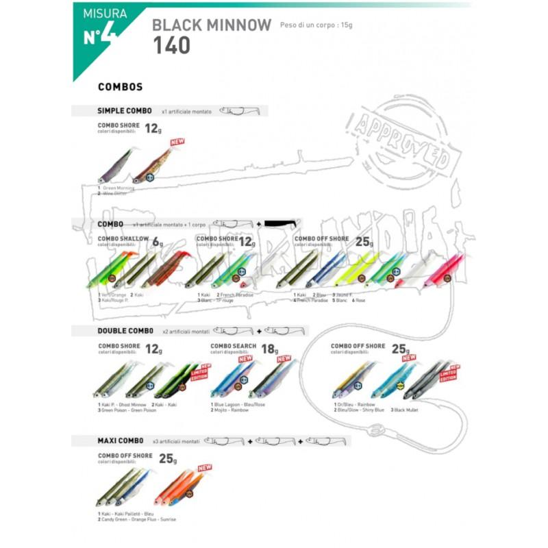 BLACK MINNOW MIS. 4  - 14 CM.